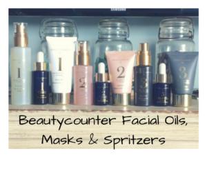 beautycounter oils and masks