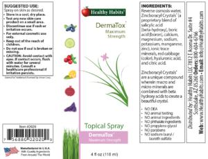 ingredients in Dermatox