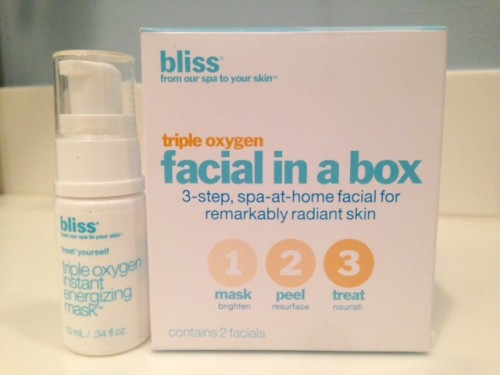 Bliss Triple Oxygen Facial In a Box Review