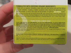 Juice Beauty Green Apple peel ingredients
