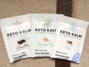 Keto Kalm Tea samples