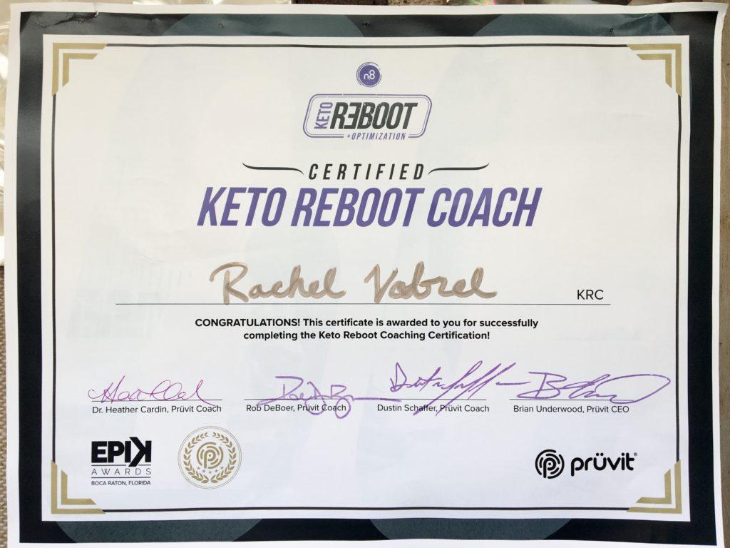 Keto Reboot Coach Rachel Vrabel