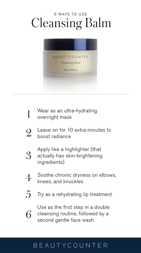 Beautycounter cleansing balm uses