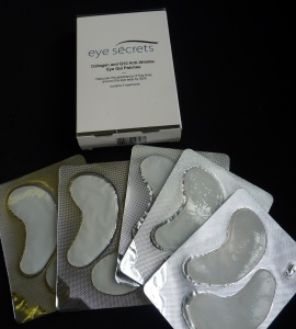 eye secrets collagen and Q10 anti-wrinkle eye gel patches
