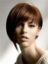 angled bob cut for short hair round face