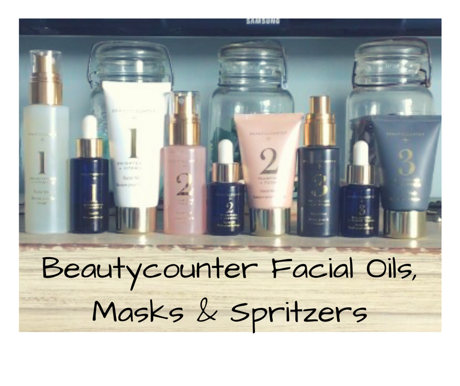 beautycounter oils and masks