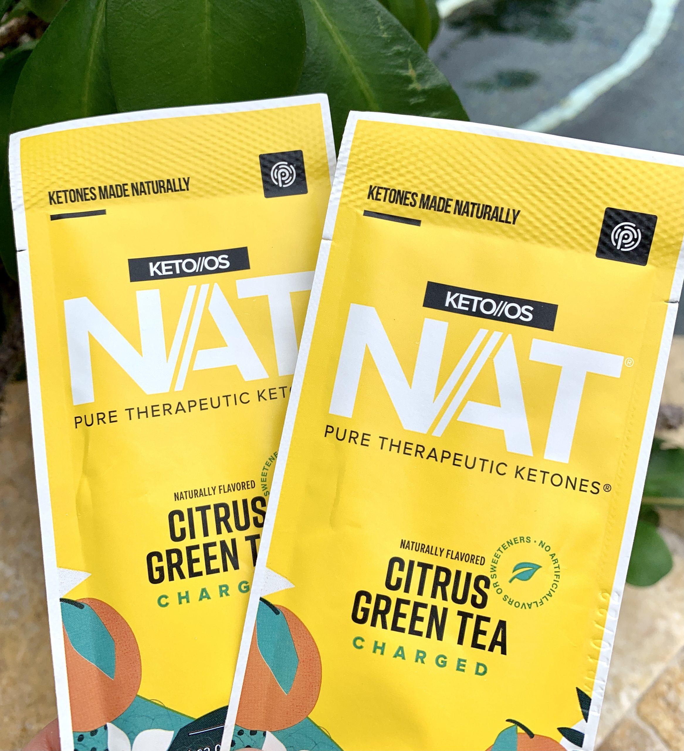 citrus green tea samples