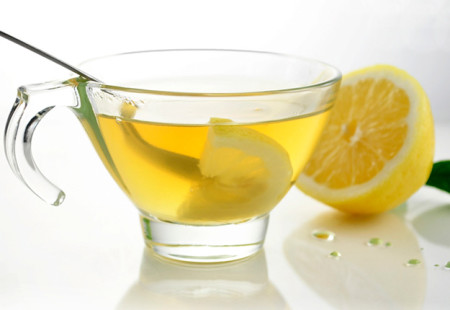 Warm lemon water for skin