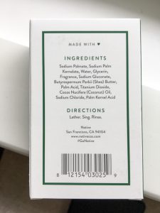 native soap ingredients list